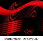 red wavy background | Shutterstock .eps vector #295391087