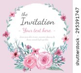 flower wedding invitation card  ...   Shutterstock .eps vector #295391747