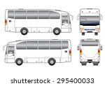 white bus | Shutterstock .eps vector #295400033