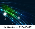 abstract color glowing lines in ... | Shutterstock .eps vector #295408697