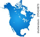 map of north america | Shutterstock .eps vector #295424873