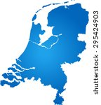 map of netherlands | Shutterstock .eps vector #295424903