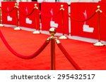 way to success on the red... | Shutterstock . vector #295432517