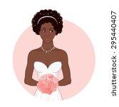pretty african american bride... | Shutterstock .eps vector #295440407