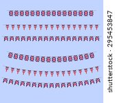 england bunting  flags   Shutterstock .eps vector #295453847