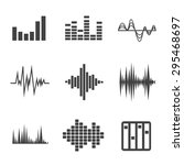 vector music sound wave icon... | Shutterstock .eps vector #295468697