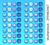 ice game icons buttons icons...