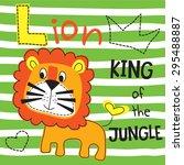 cute lion vector illustration | Shutterstock .eps vector #295488887