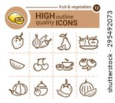 line icon of fruit and...   Shutterstock .eps vector #295492073