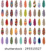 Patterned Colorful Feathers...