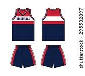 men basketball sport kit...   Shutterstock .eps vector #295532897