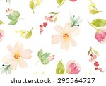 Watercolor Flowers. Seamless...