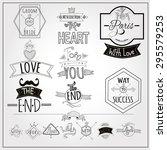 retro catchwords and romantic...   Shutterstock .eps vector #295579253