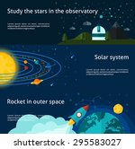 space and universe flat... | Shutterstock .eps vector #295583027