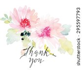 watercolor greeting card... | Shutterstock .eps vector #295597793