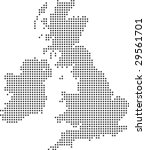 illustration of a map of the uk ... | Shutterstock .eps vector #29561701