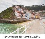 village of cudillero in...   Shutterstock . vector #295623347