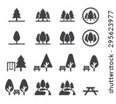 park icon set | Shutterstock vector #295623977
