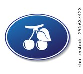 berry cherry vector icon  | Shutterstock .eps vector #295637423