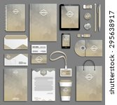 corporate identity template set.... | Shutterstock .eps vector #295638917