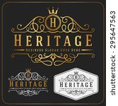 luxurious royal logo vector re... | Shutterstock .eps vector #295647563