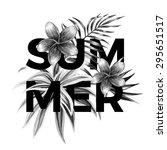 slogan summer on a background...   Shutterstock .eps vector #295651517