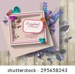 photo frames   scrapbook... | Shutterstock .eps vector #295658243