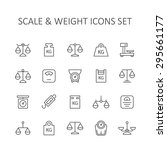 scale and weight icons set. | Shutterstock .eps vector #295661177