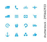 delivery icons universal set... | Shutterstock .eps vector #295662923