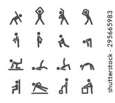 people exercise in fitness icon