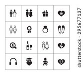 couple  love icons universal... | Shutterstock .eps vector #295677137