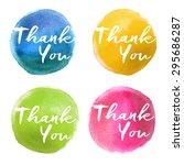 calligraphy handwritten thank...   Shutterstock .eps vector #295686287