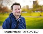 outdoors portrait of middle age ...   Shutterstock . vector #295692167