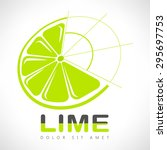 lime vector illustration. Logo template.