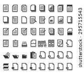 paper icon document icon vector ... | Shutterstock .eps vector #295715543