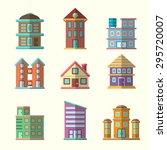 modern flat vector buildings set | Shutterstock .eps vector #295720007