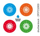 water drops on button.... | Shutterstock .eps vector #295721003