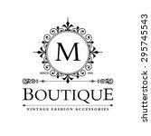 m letter logo  monogram design...   Shutterstock .eps vector #295745543