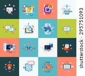 set of modern flat design icons ... | Shutterstock .eps vector #295751093