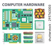 computer hardware flat...