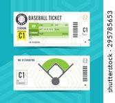 baseball ticket card modern... | Shutterstock .eps vector #295785653