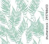 green fern leaves on a white... | Shutterstock .eps vector #295788653