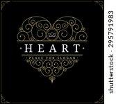 heart shaped vintage luxury... | Shutterstock .eps vector #295791983