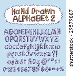 vector hand drawn alphabet for... | Shutterstock .eps vector #29579887