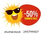 summer sale with sun and... | Shutterstock .eps vector #295799507
