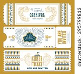 vintage circus banner... | Shutterstock .eps vector #295799813