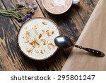healthy breakfast of oatmeal... | Shutterstock . vector #295801247