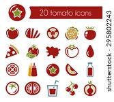 tomato icons | Shutterstock .eps vector #295802243