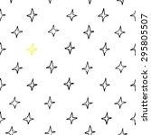 seamless hand draw star pattern....   Shutterstock .eps vector #295805507