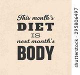 retro typographic poster design ... | Shutterstock .eps vector #295806497